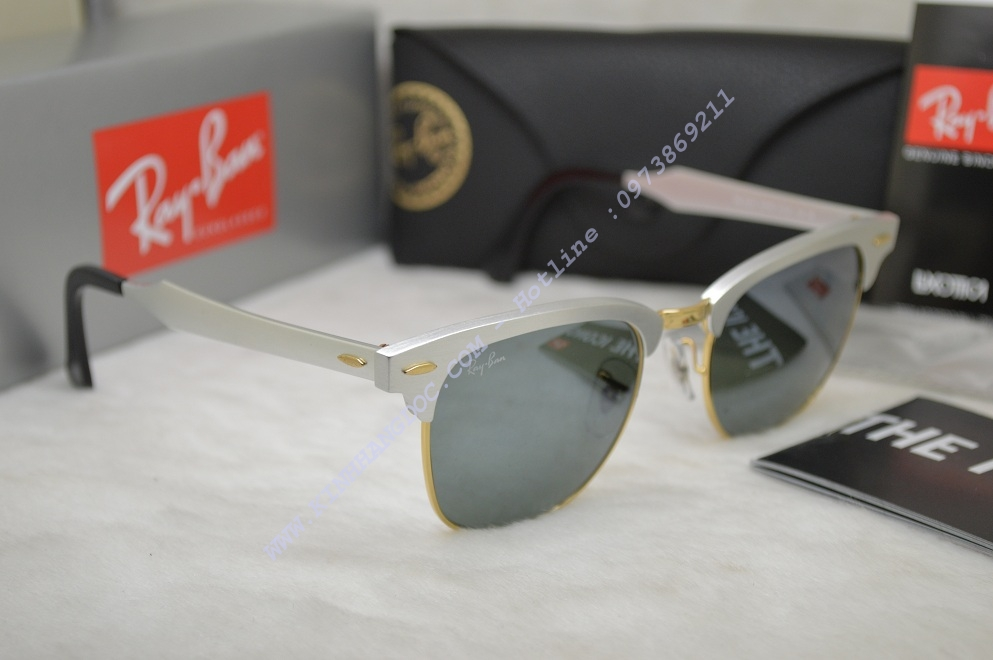 9ba5caf961 ... KÍNH MẮT RAYBAN RB3057 Clubmaster Aluminu (Authentic) ...